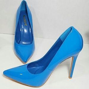 "🆕 Alba Blue Pointy Toe Pump 4.5"" Stiletto Heel 🆕"